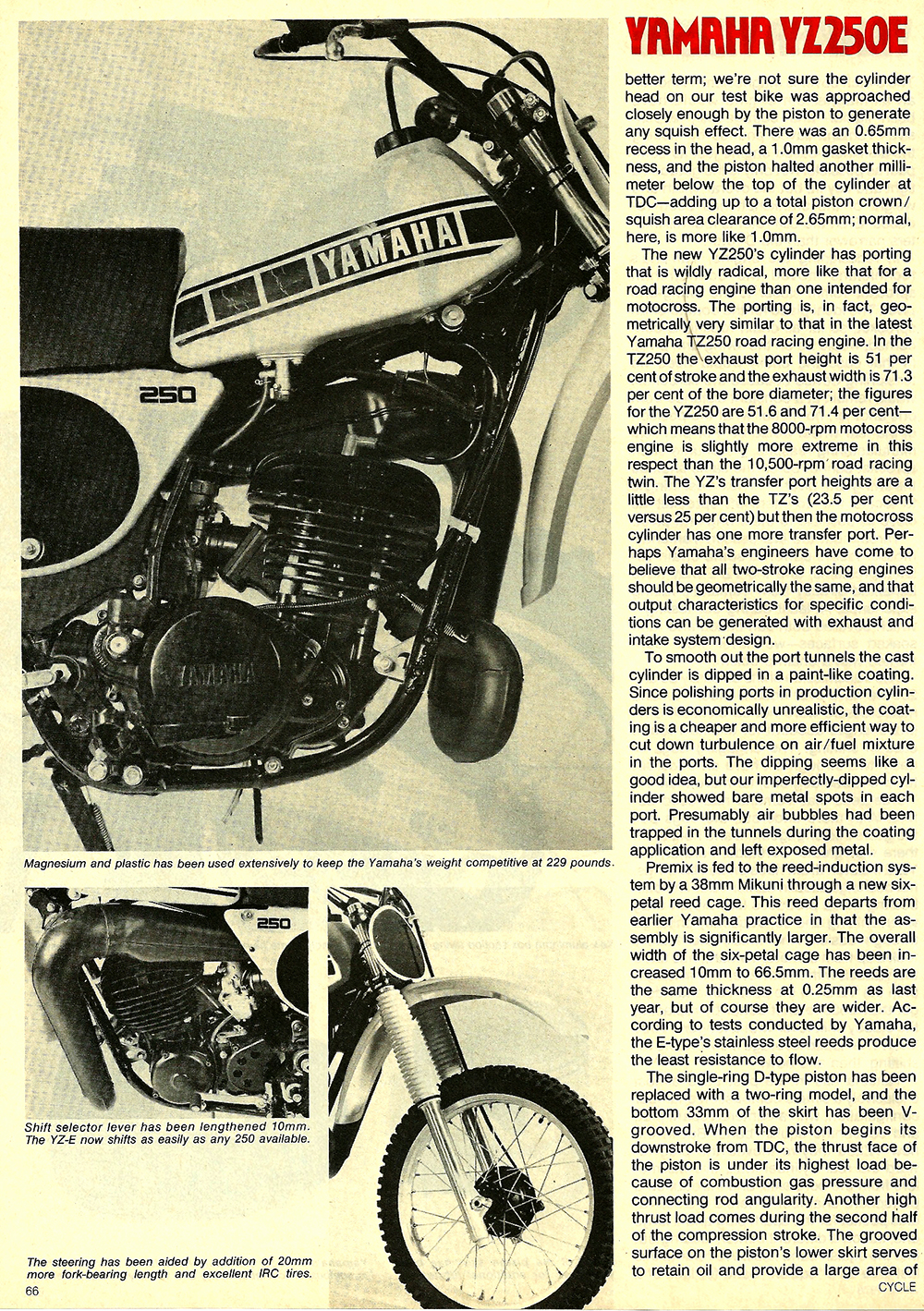 1978 Yamaha YZ250E road test 5.jpg