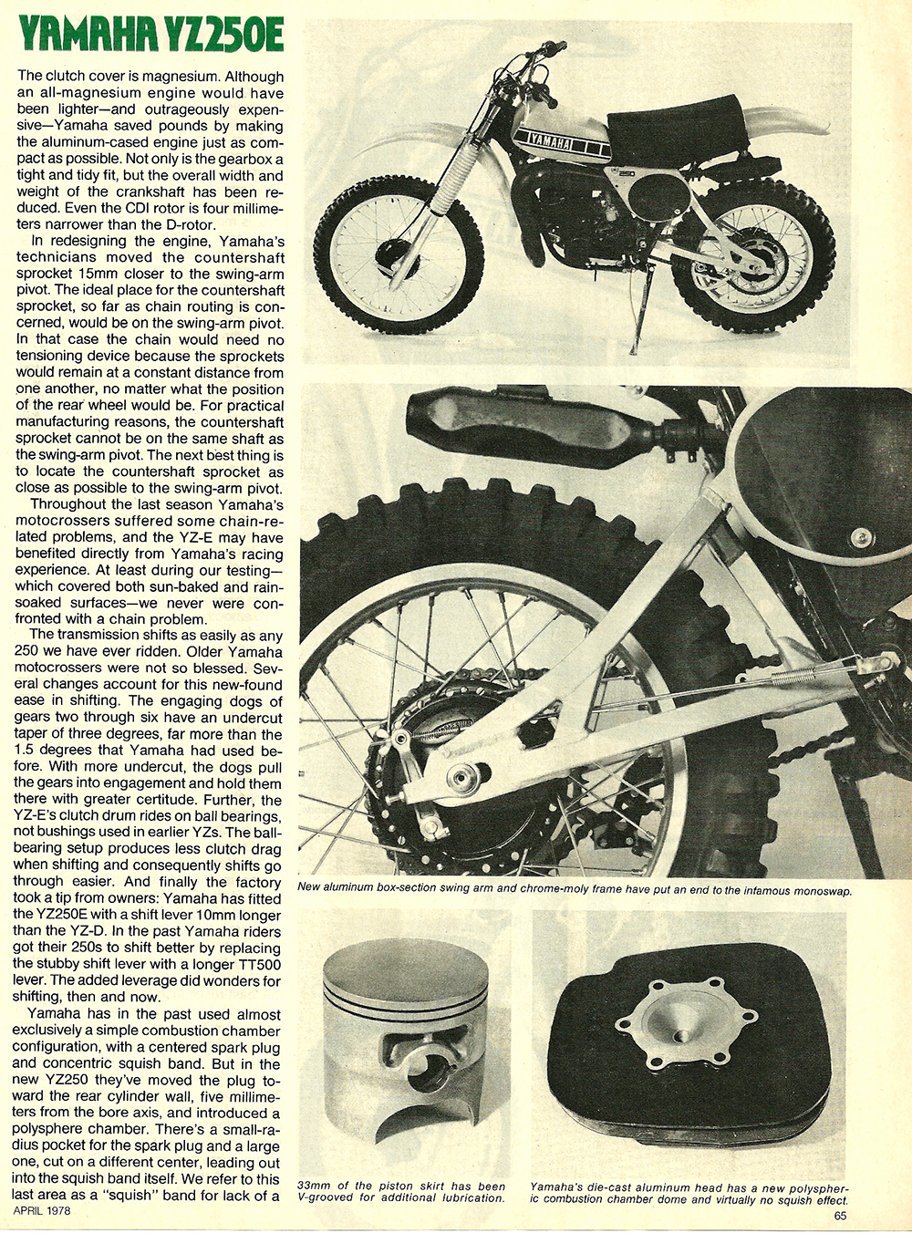 1978 Yamaha YZ250E road test 4.jpg