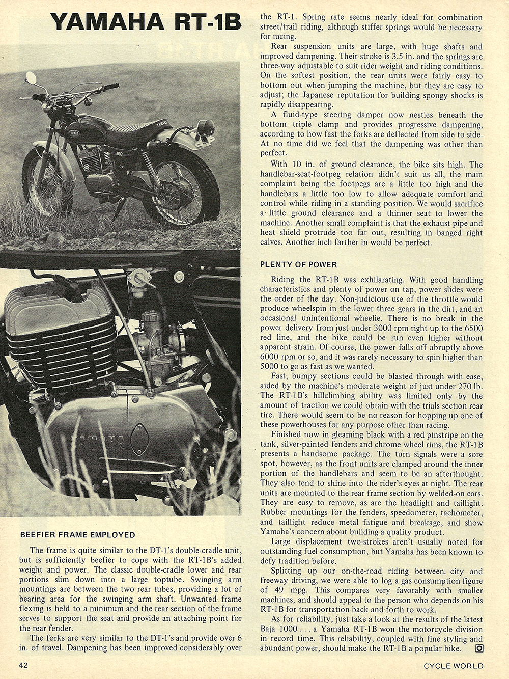 1971 Yamaha RT-1B road test 04.jpg