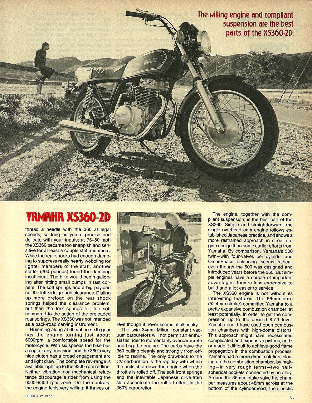 1977 Yamaha XS360-2D road test 5.jpg