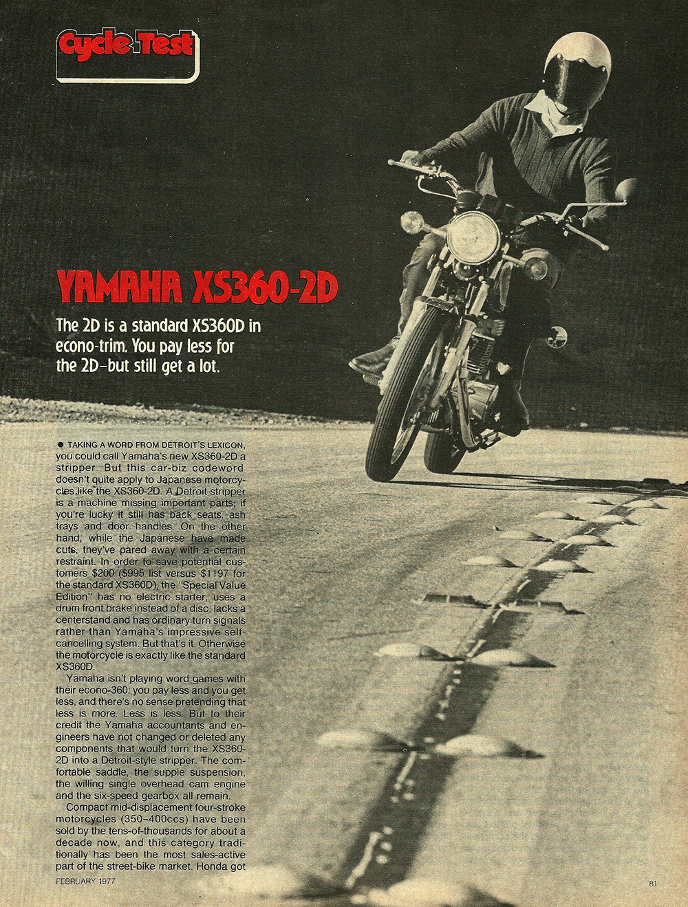 1977 Yamaha XS360-2D road test 1.jpg
