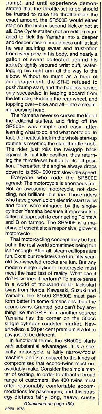 1978 Yamaha SR500E road test 5.jpg