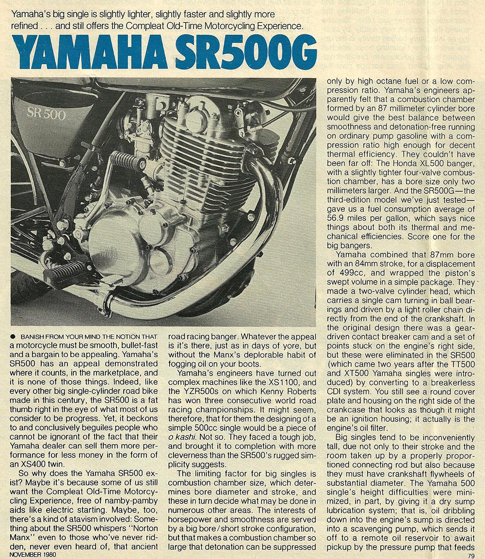 1980 Yamaha SR500 G road test 02.jpg