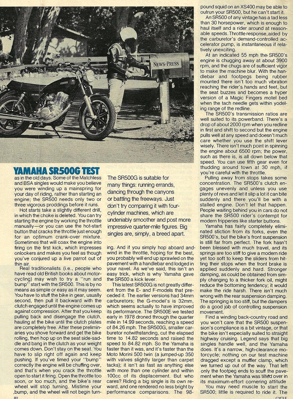 1980 Yamaha SR500 G road test 05.jpg