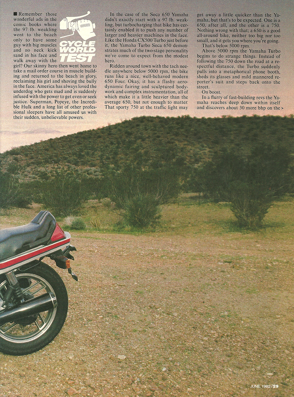 1982 Yamaha Turbo Seca 650 road test 02.jpg