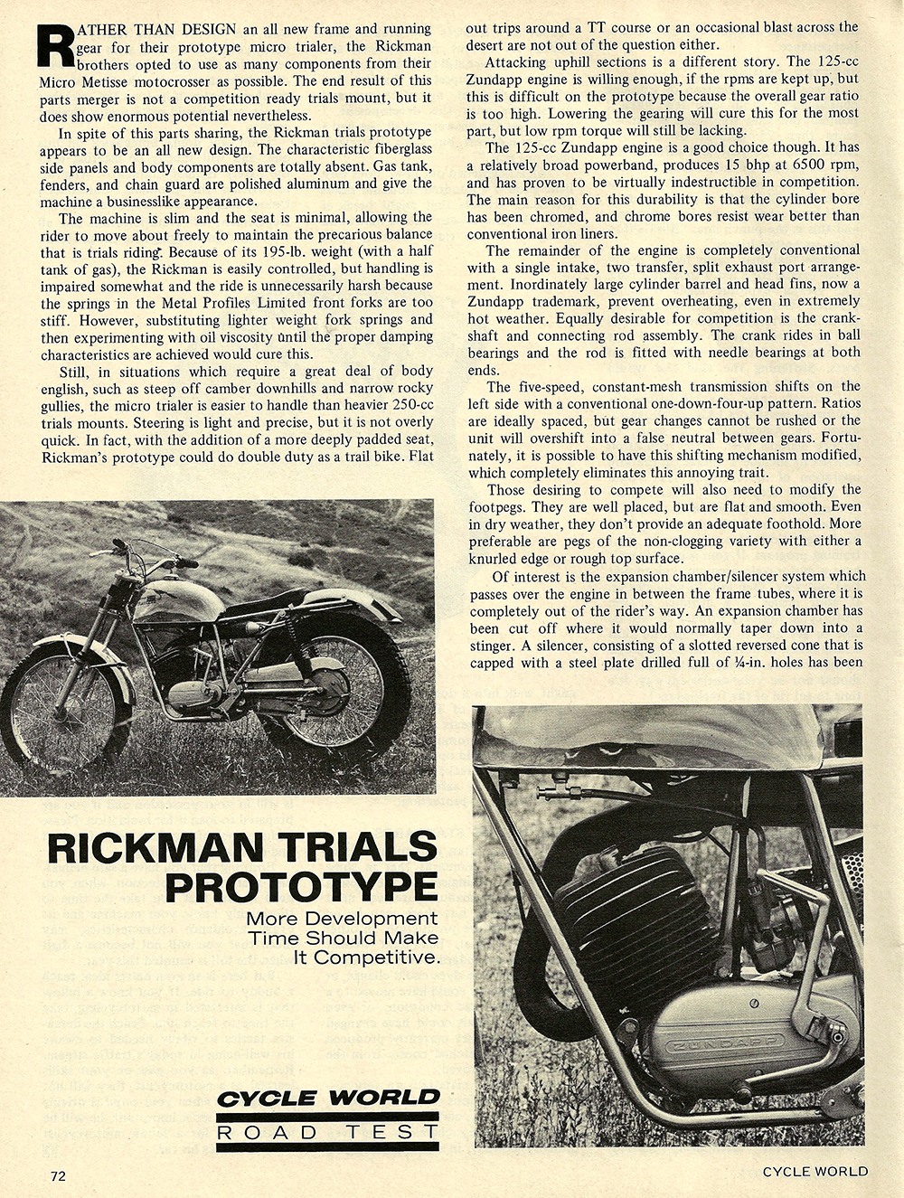 1971 Rickman Trials Prototype road test 01.jpg