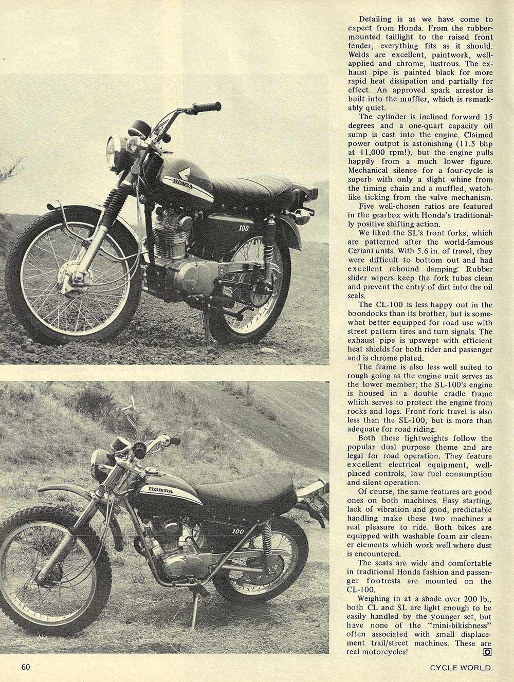 1970 Honda CL100 and SL100 road test 03.jpg