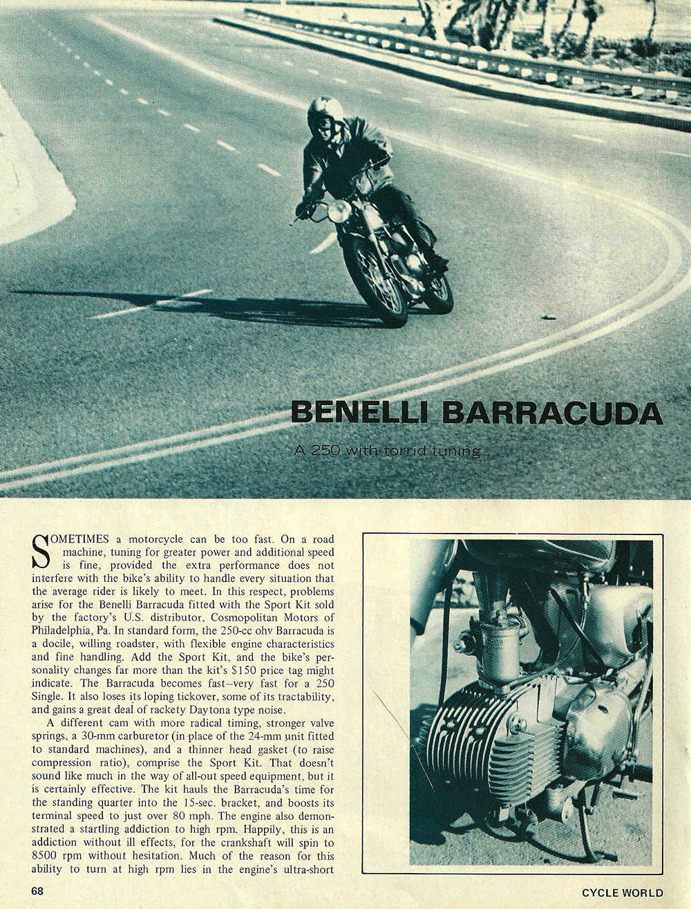 1968 Benelli Barracuda 250 road test 01.jpg