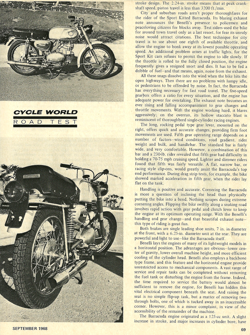 1968 Benelli Barracuda 250 road test 02.jpg