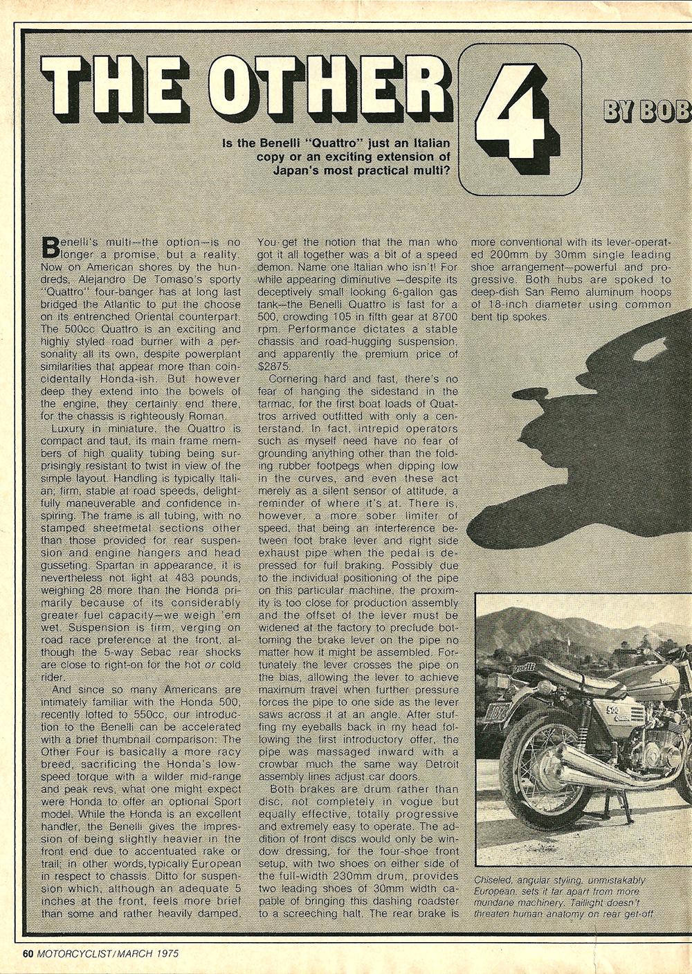 1975 Benelli 500 Quattro road test 1.jpg