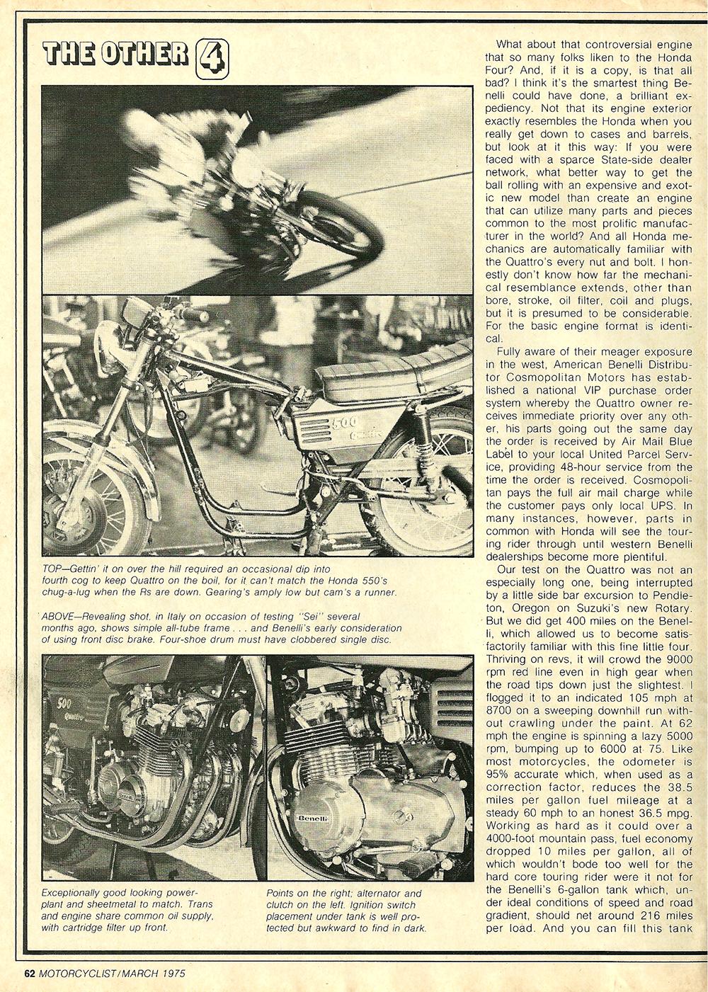 1975 Benelli 500 Quattro road test 3.jpg