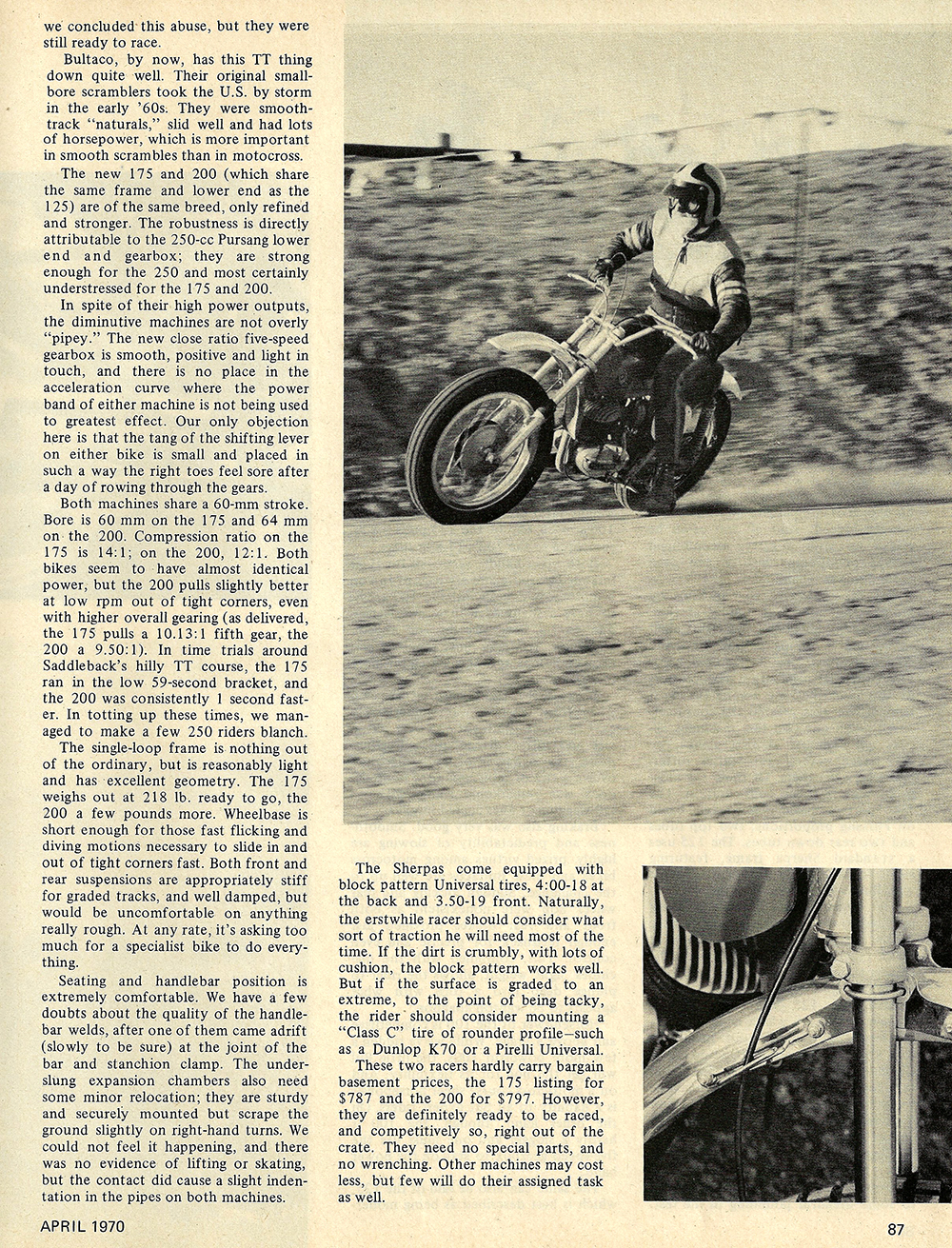 1970 Bultaco Sherpa 175 and 200 road test 02.jpg