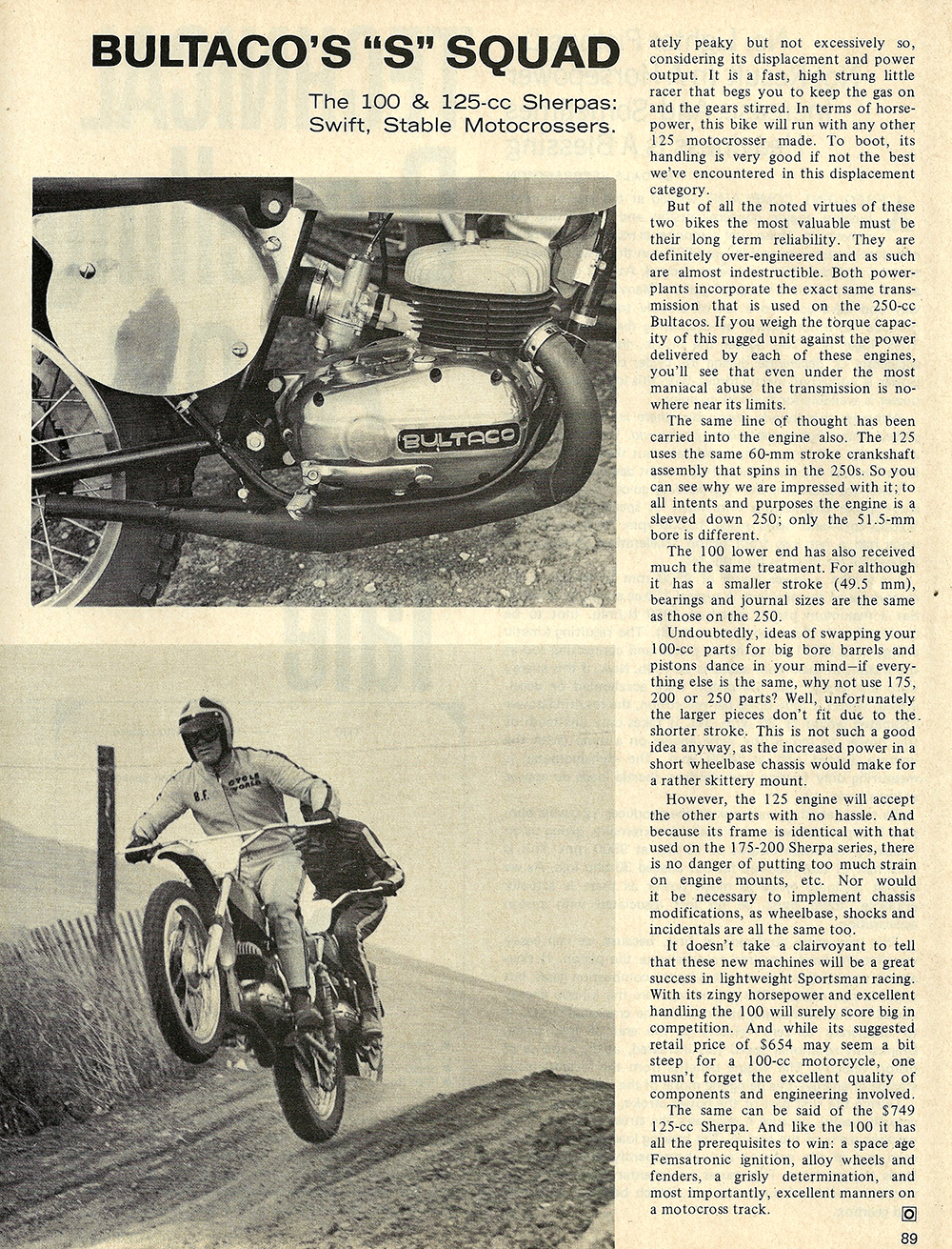 1970 Bultaco Sherpa 175 and 200 road test 04.jpg