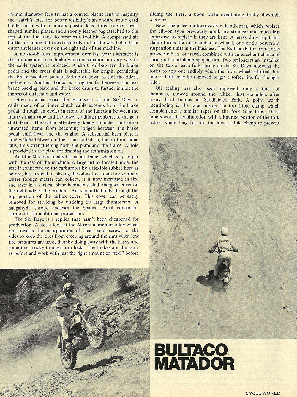 1972 Bultaco Matador Mark 4 SD road test 03.jpg