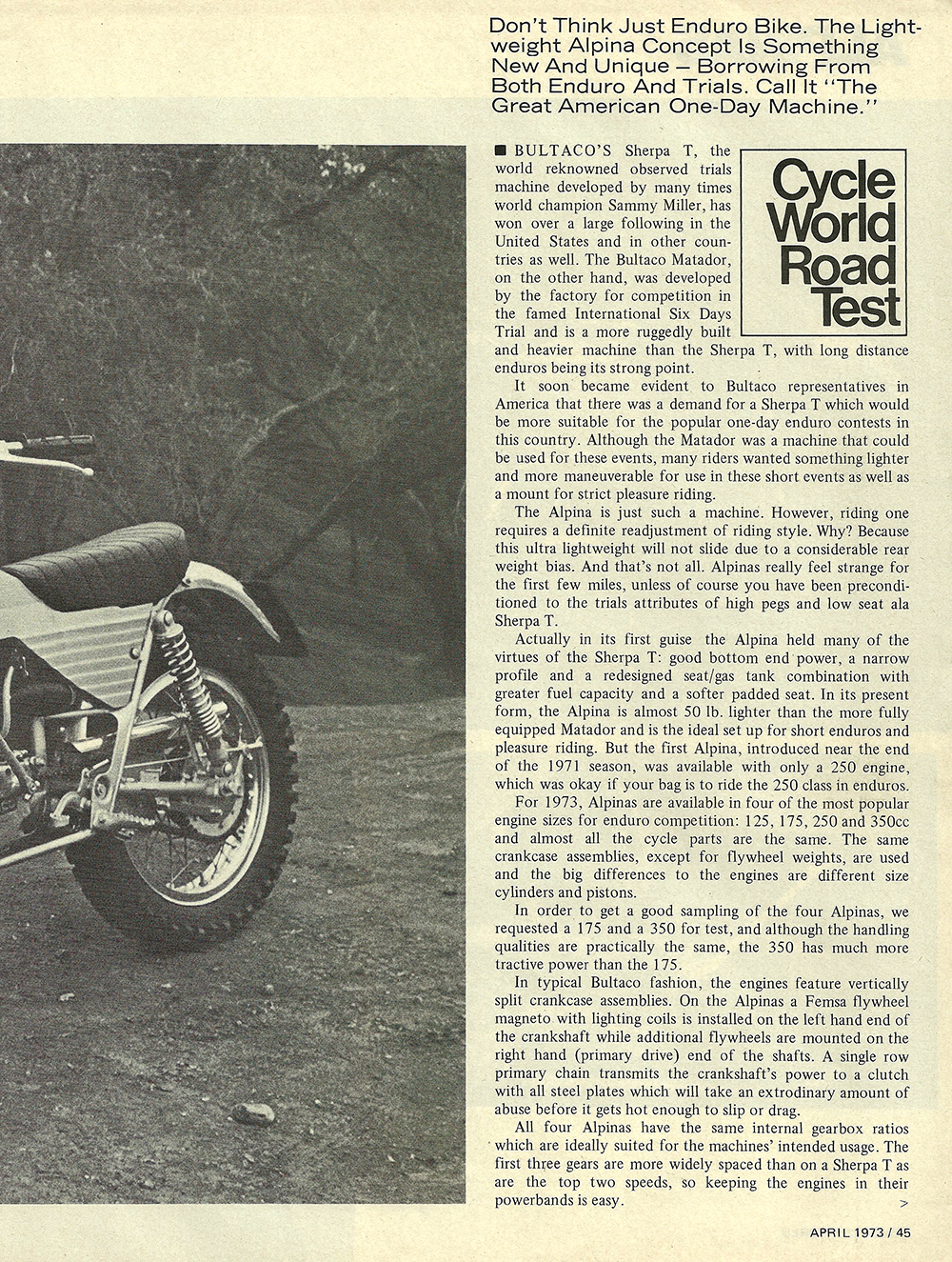 1973 Bultaco Alpina 175 350 road test 02.jpg