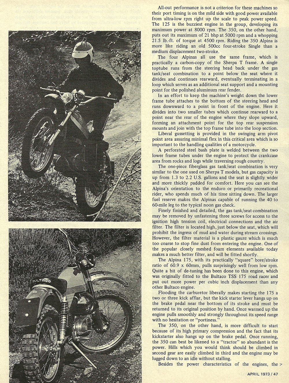 1973 Bultaco Alpina 175 350 road test 04.jpg