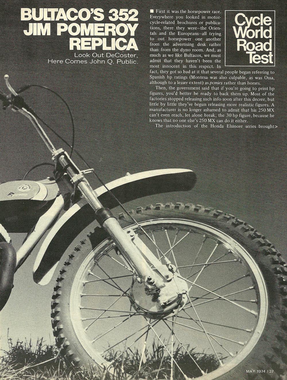 1974 Bultaco 352 Pomeroy road test 02.jpg