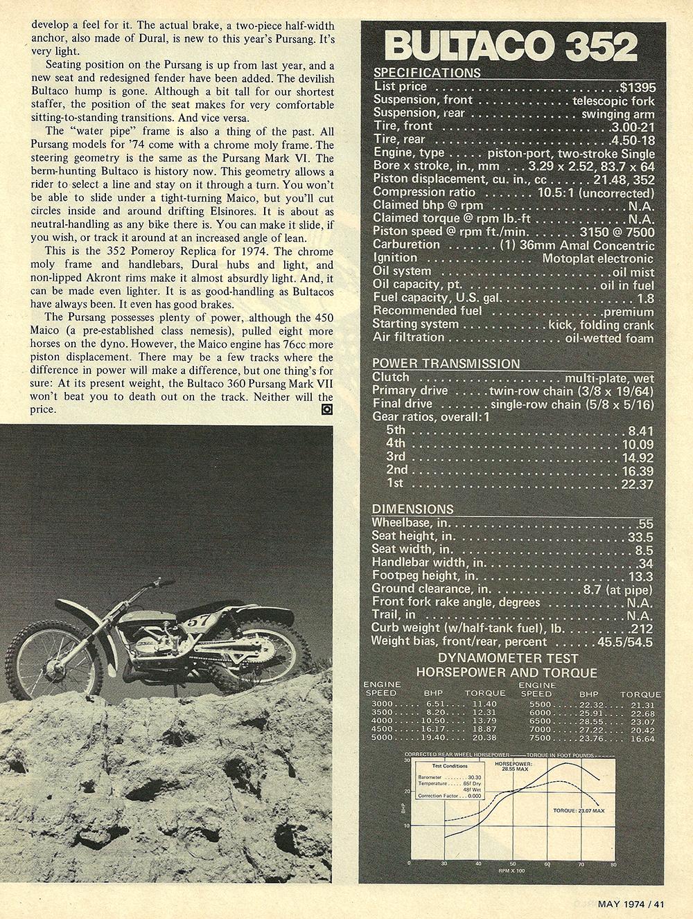 1974 Bultaco 352 Pomeroy road test 06.jpg