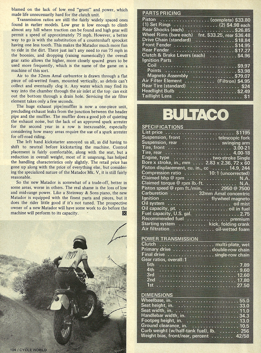 1974 Bultaco Matador 250 Mark 5 road test 05.jpg