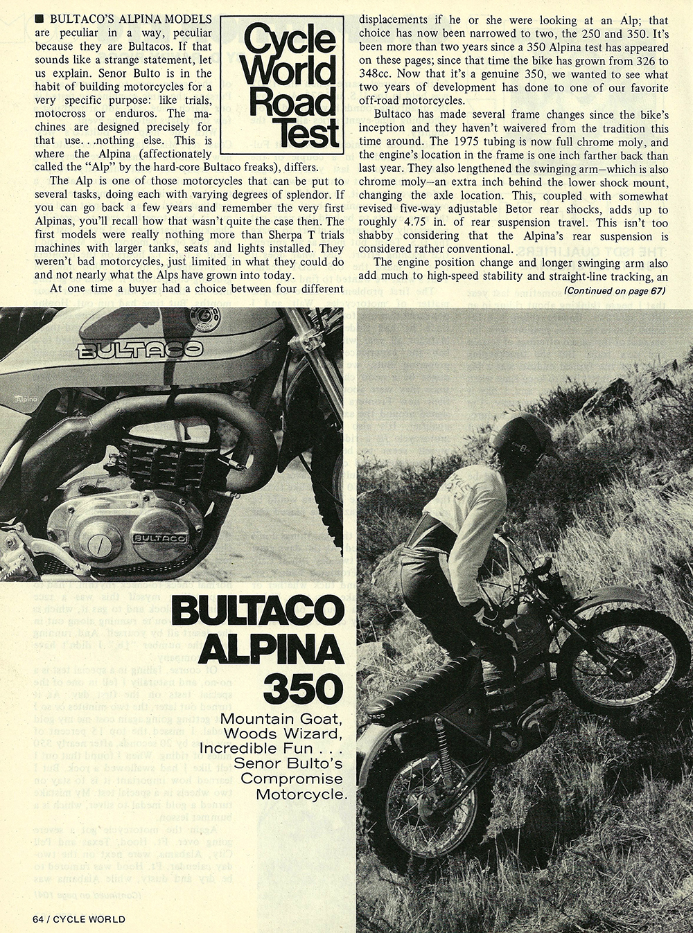 1975 Bultaco Alpina 350 road test 01.jpg