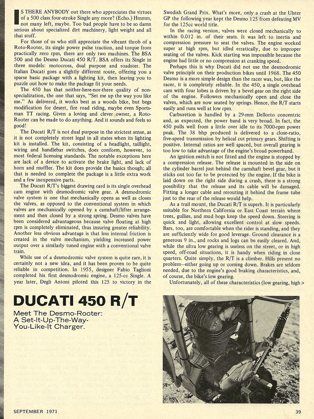 1971 Ducati 450 RT road test 02.jpg