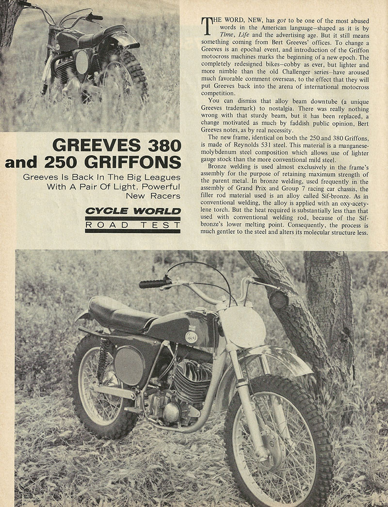 1969 Greeves Griffon 380 and 250 road test 1.jpg