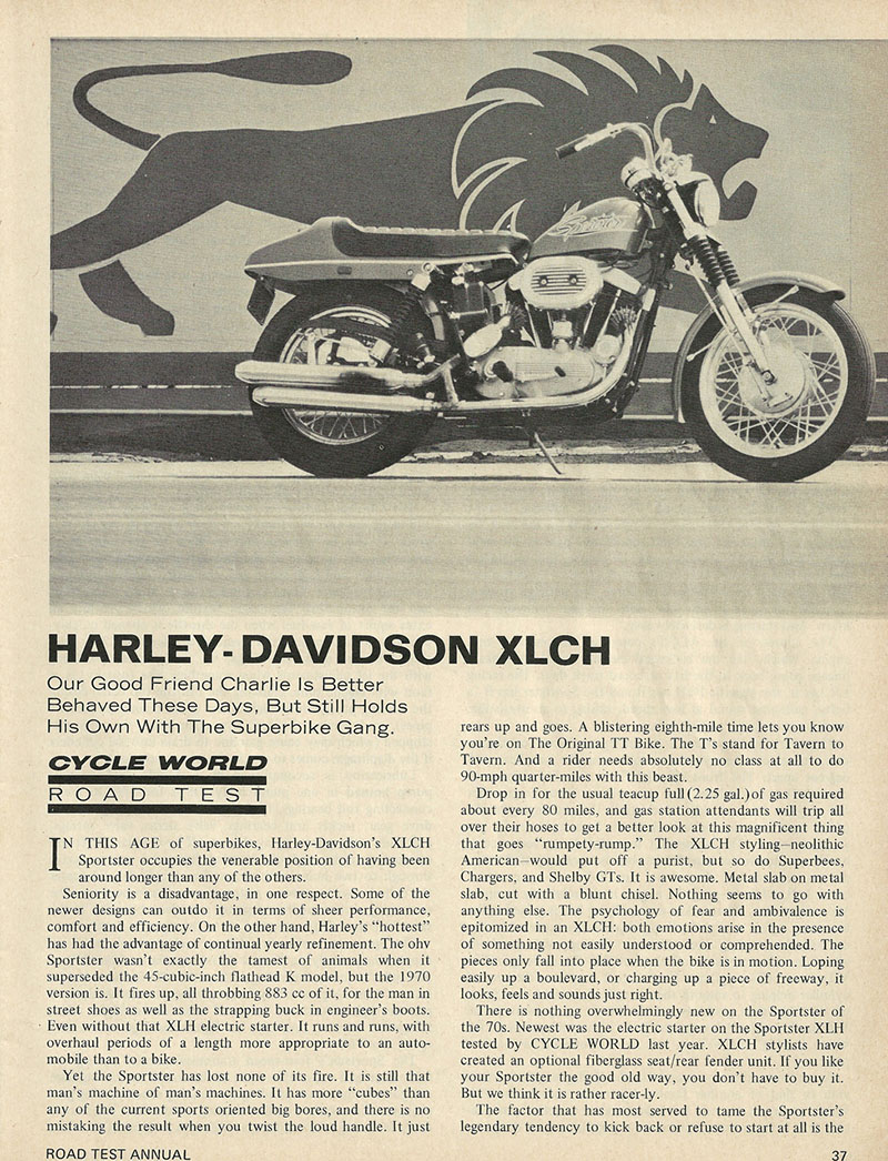 1969 Harley Davidson Sportster XLCH road test 1.jpg