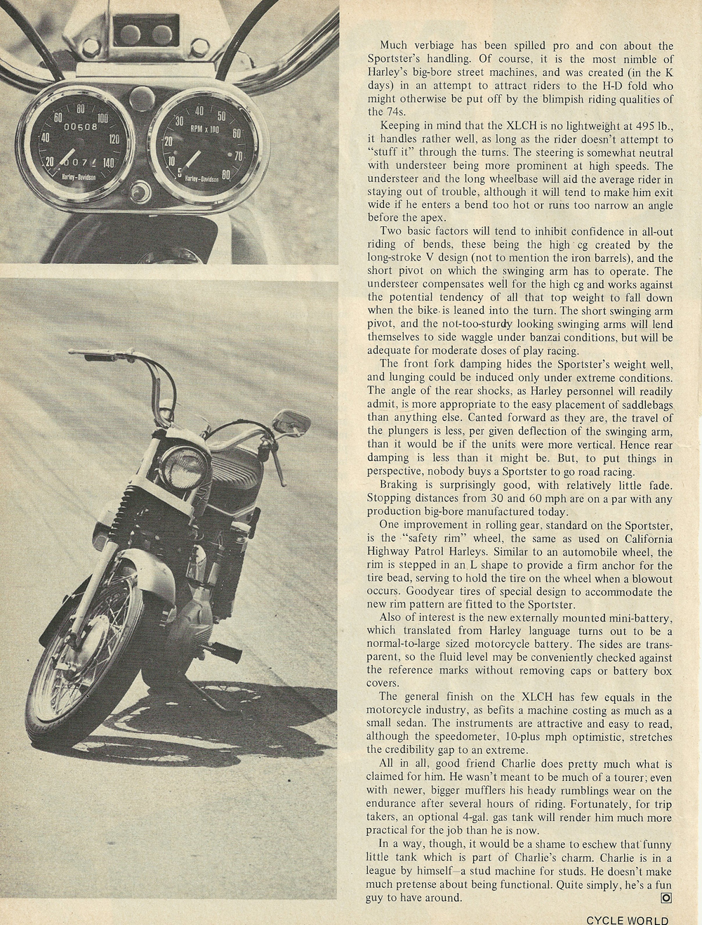 1969 Harley Davidson Sportster XLCH road test 4.jpg