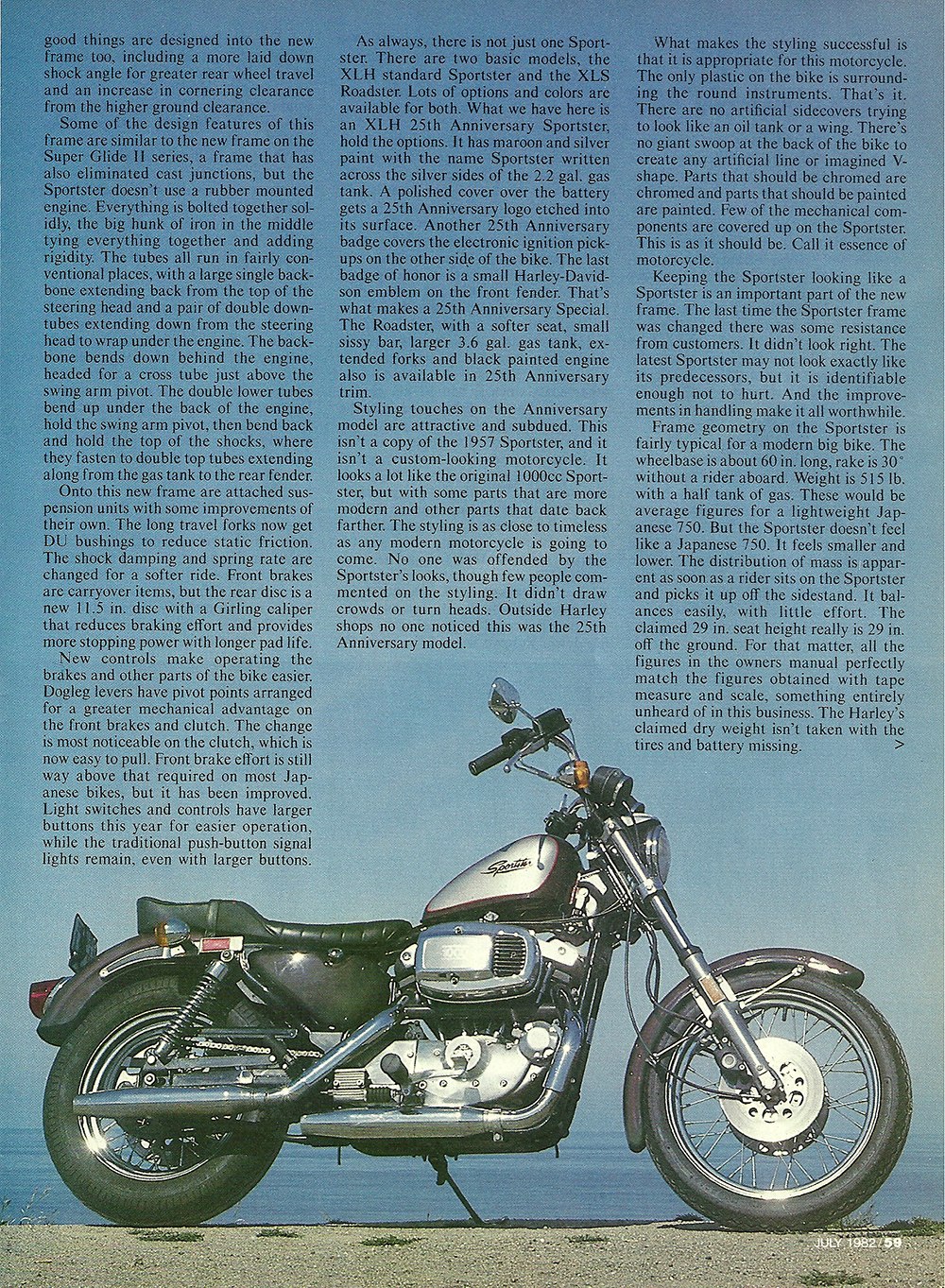 1982 Harley Davidson XLS Sportster 25th road test 02.jpg