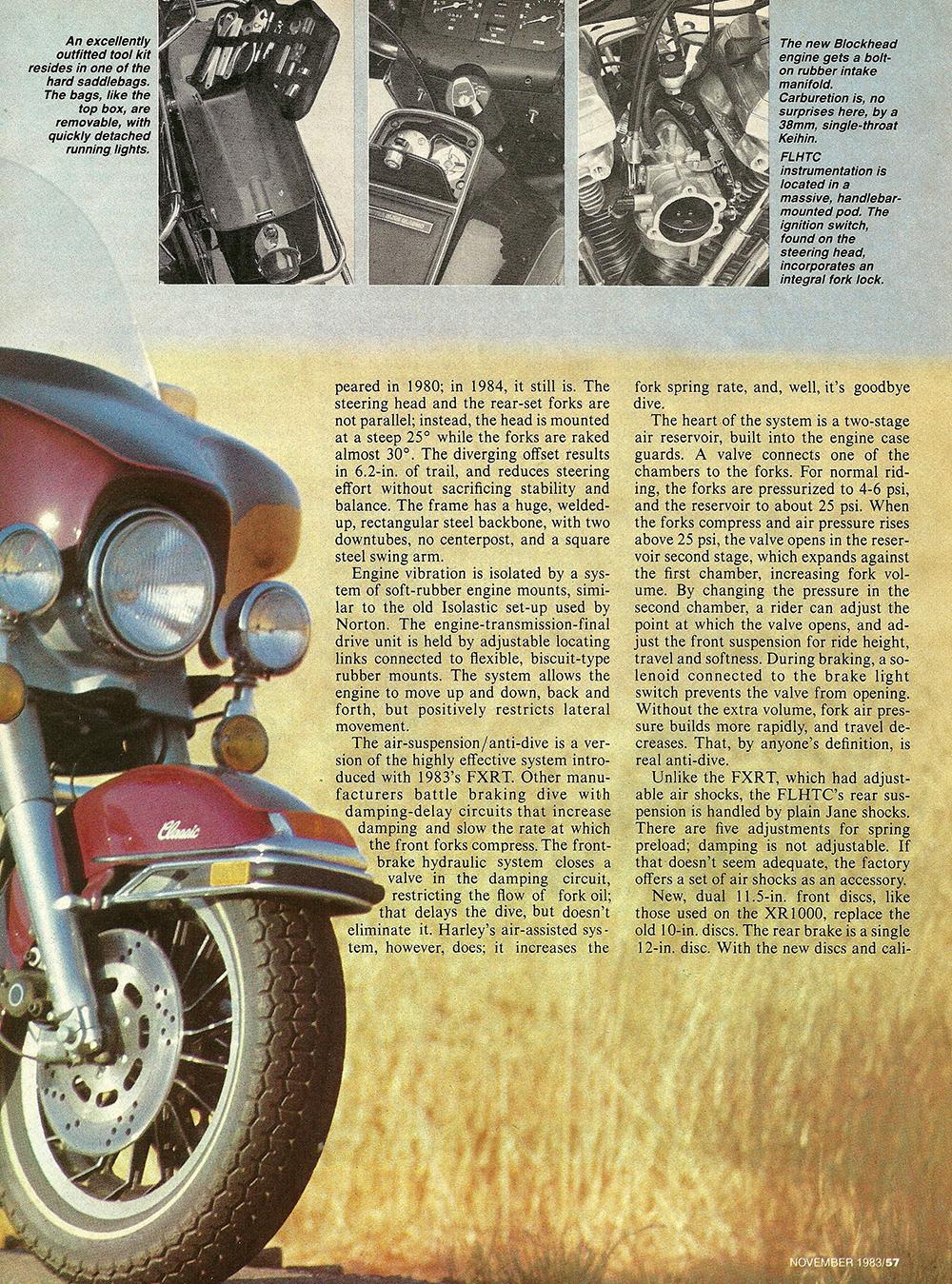 1983 Harley-Davidson FLHTC road test 04.jpg