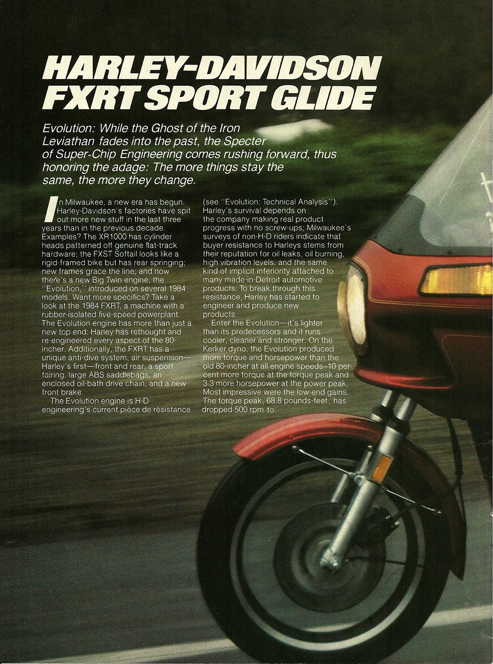 1983 Harley Davidson FXRT Sport Glide road test 1.jpg