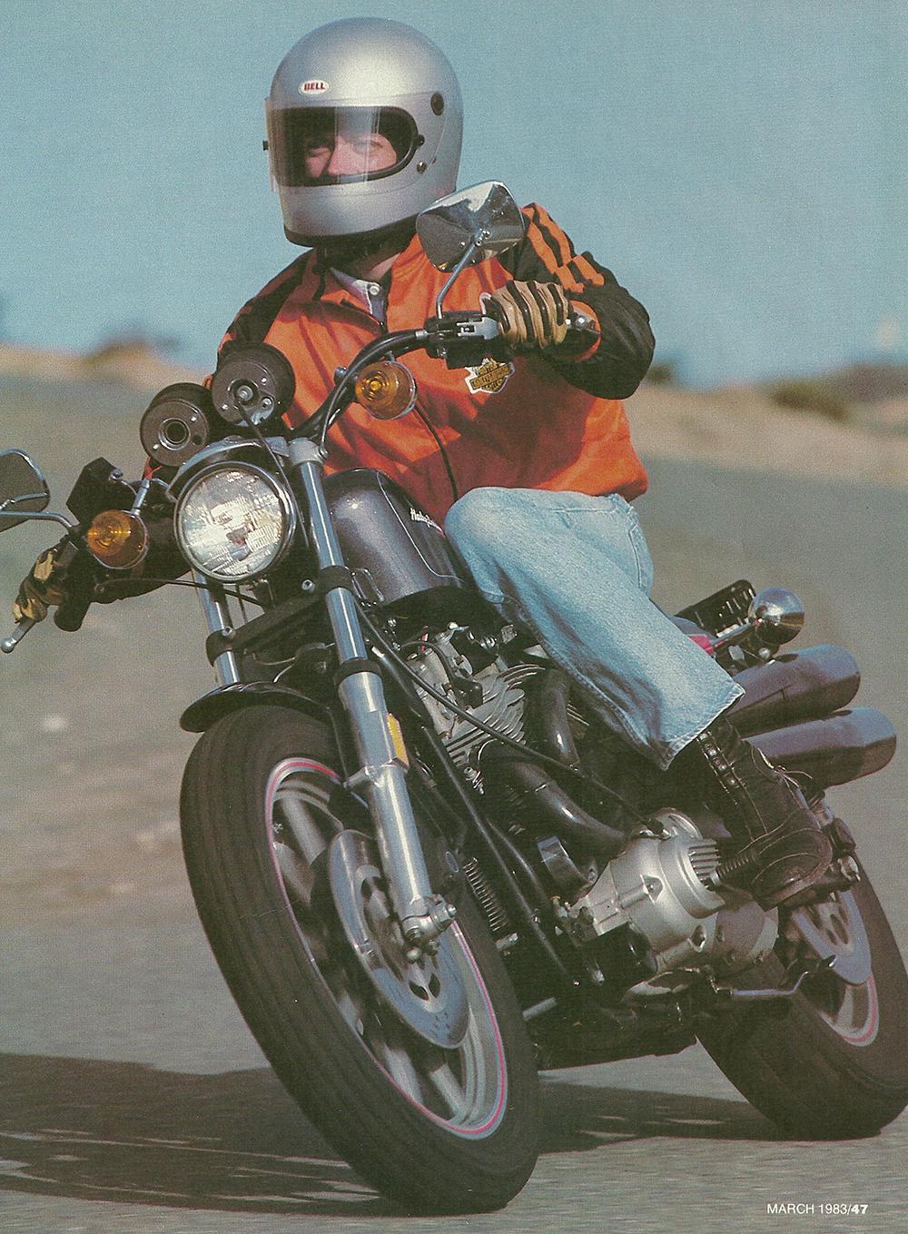 1983 Harley-Davidson XR1000 road test 02.jpg