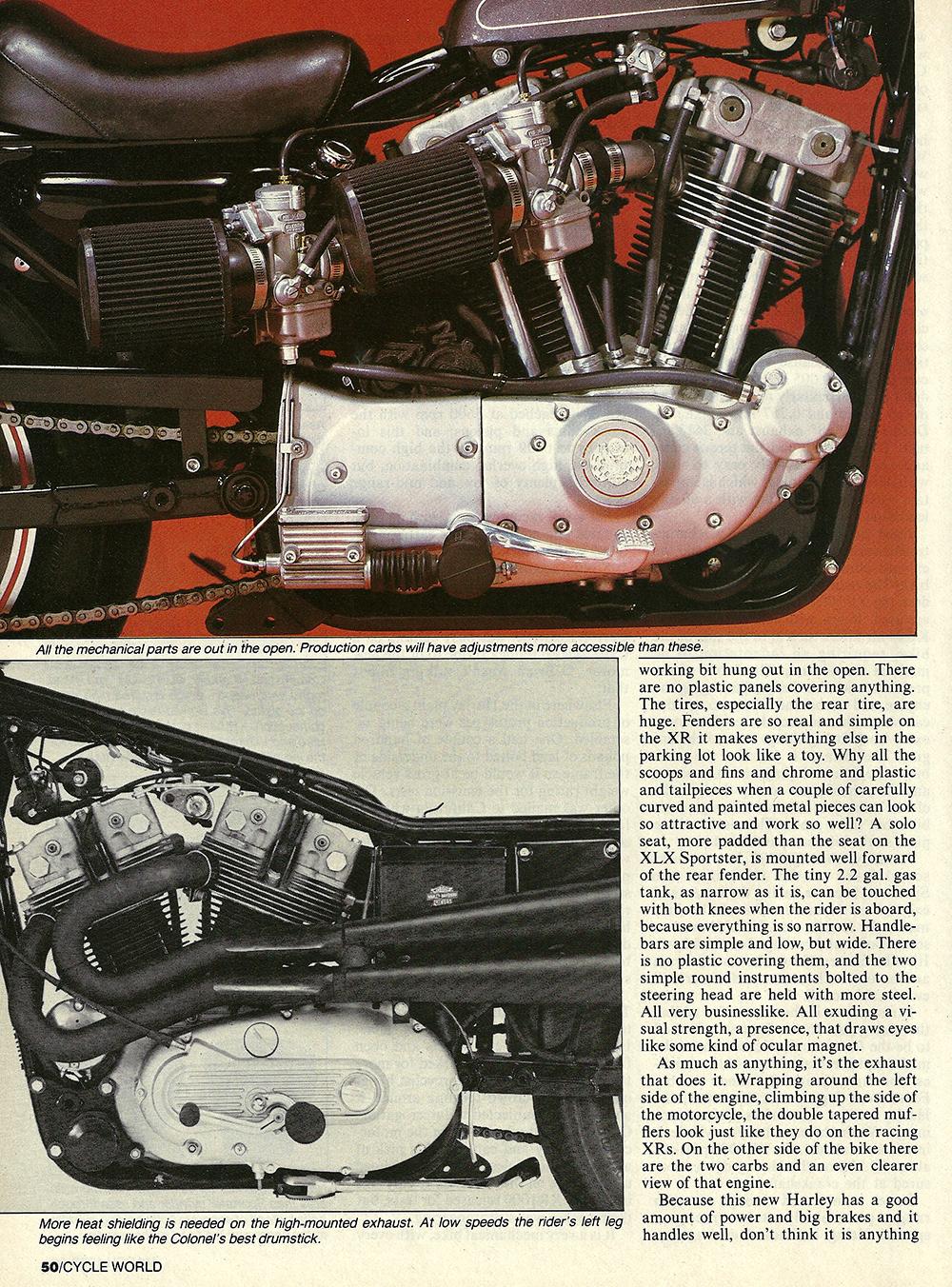 1983 Harley-Davidson XR1000 road test 05.jpg