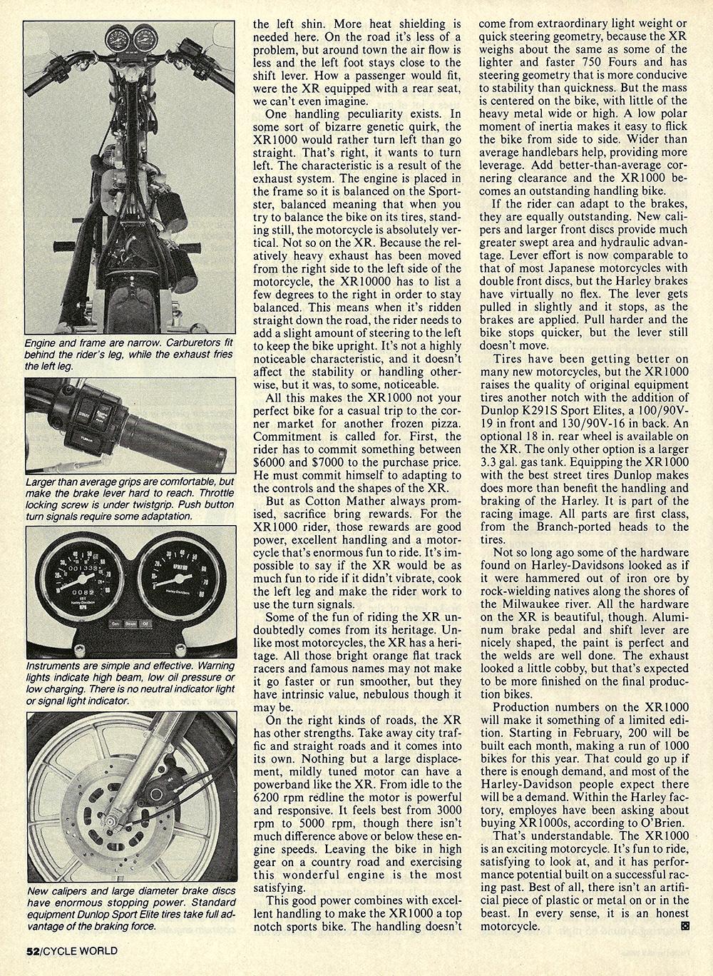 1983 Harley-Davidson XR1000 road test 07.jpg