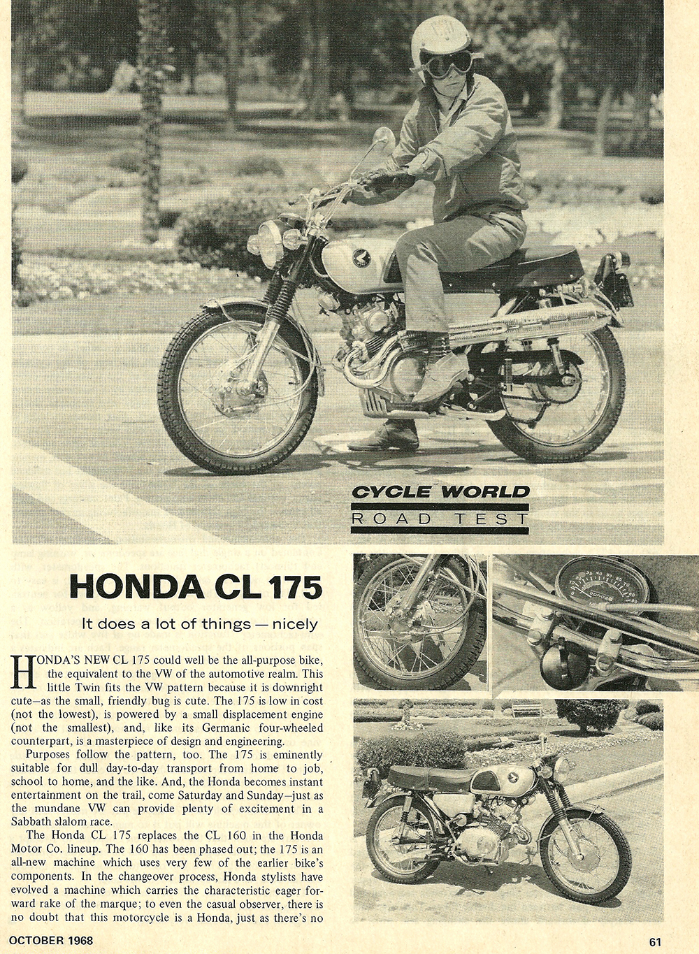 1968 Honda CL 175 road test 01.jpg