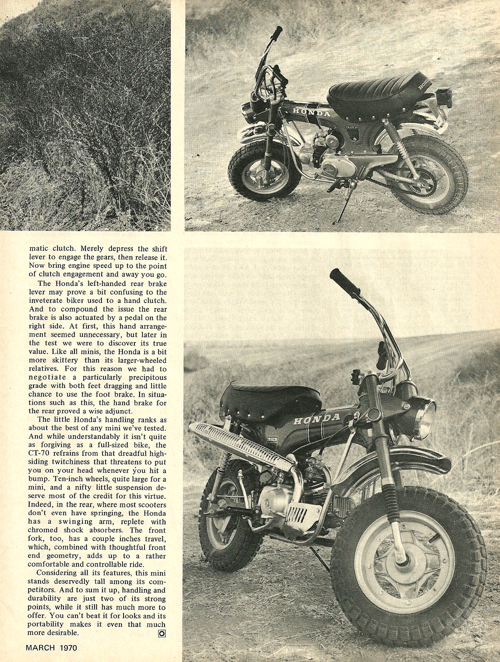 1970 Honda Ct70 Road Test Ye Olde Cycle Shoppe Trail 70 Mini Bike 2