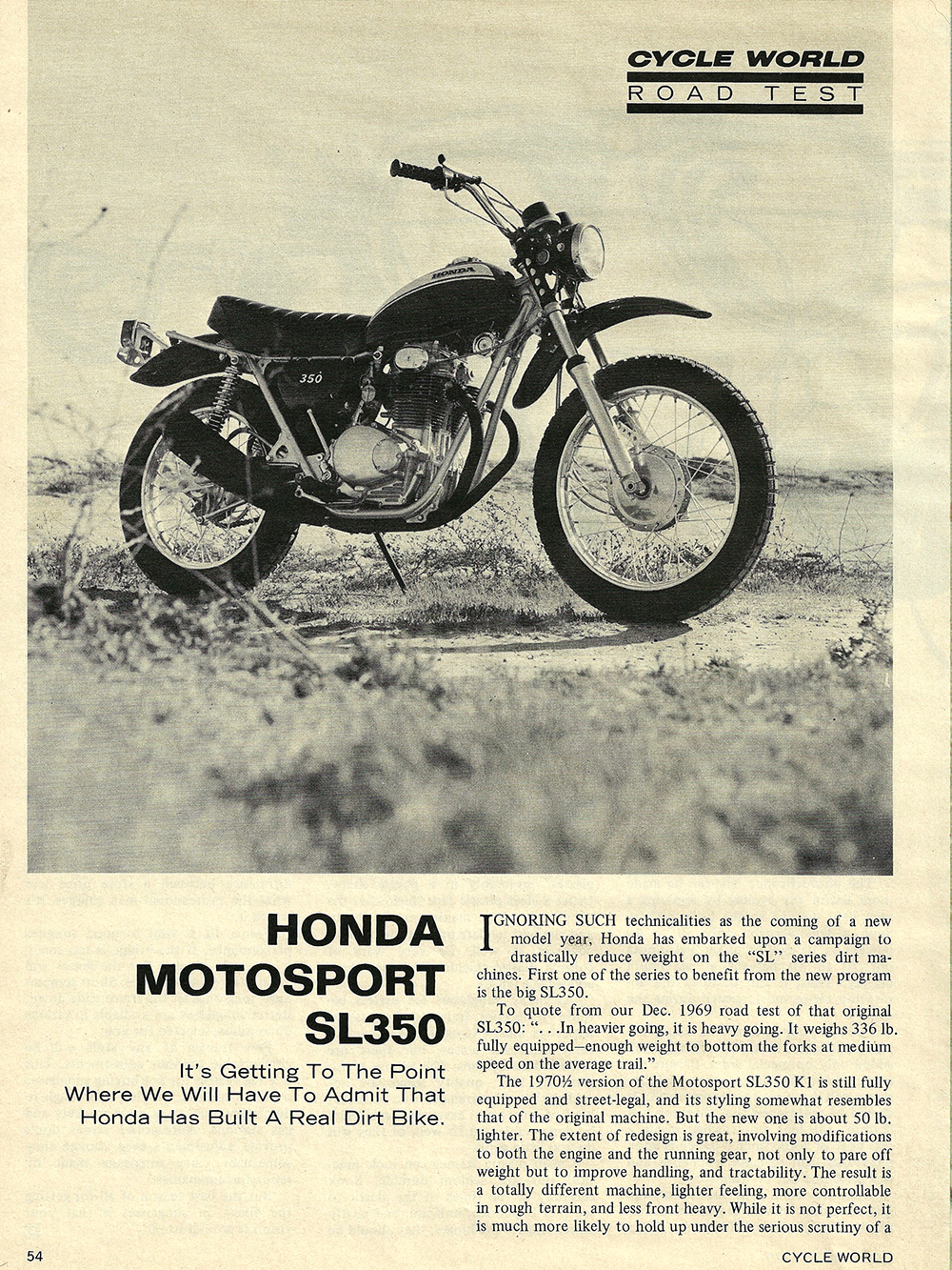1970 Honda Motosport Sl350 Road Test Ye Olde Cycle Shoppe Ct70 Brochures 01