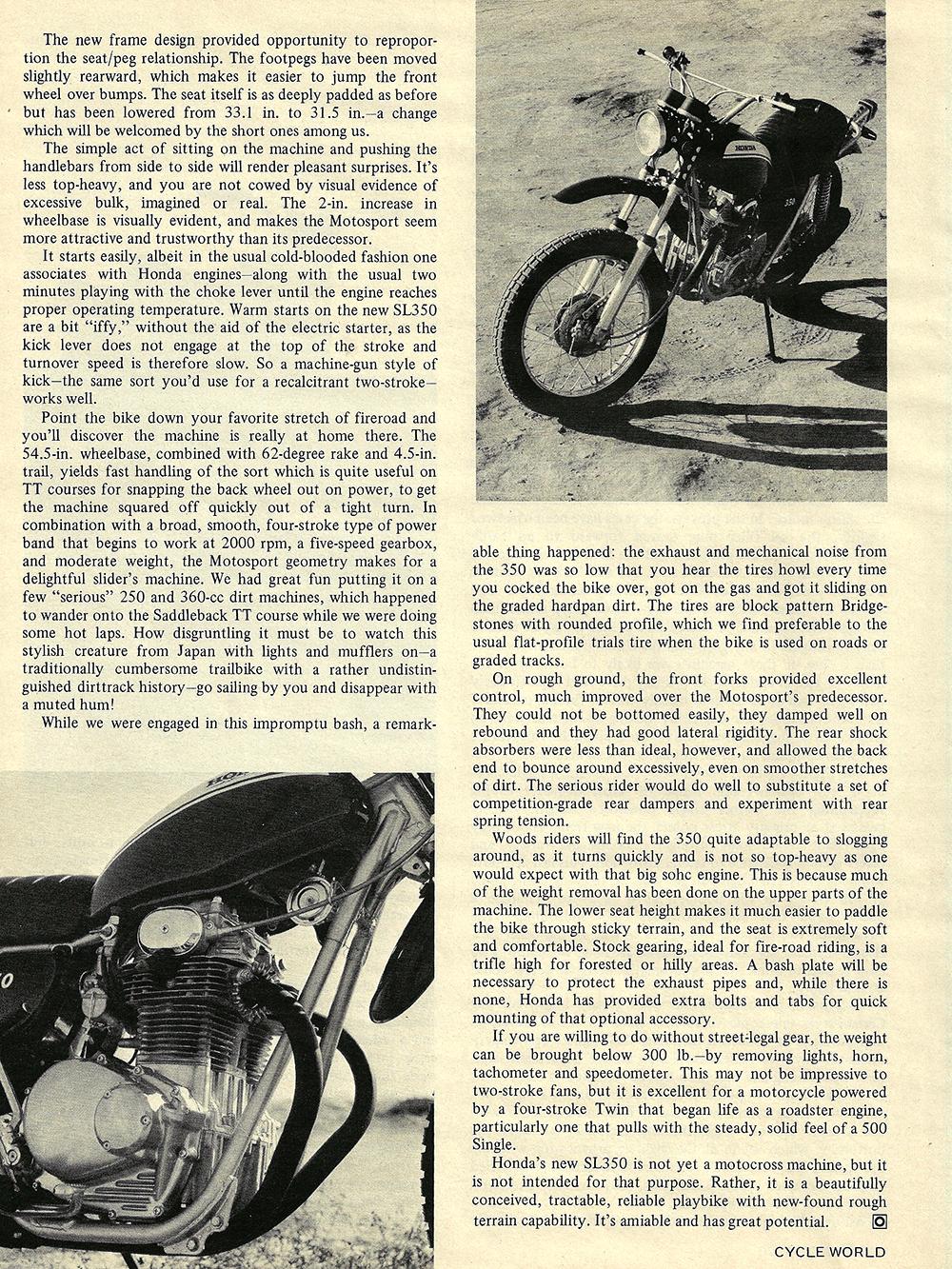 1970 Honda Motosport SL350 road test 03.jpg