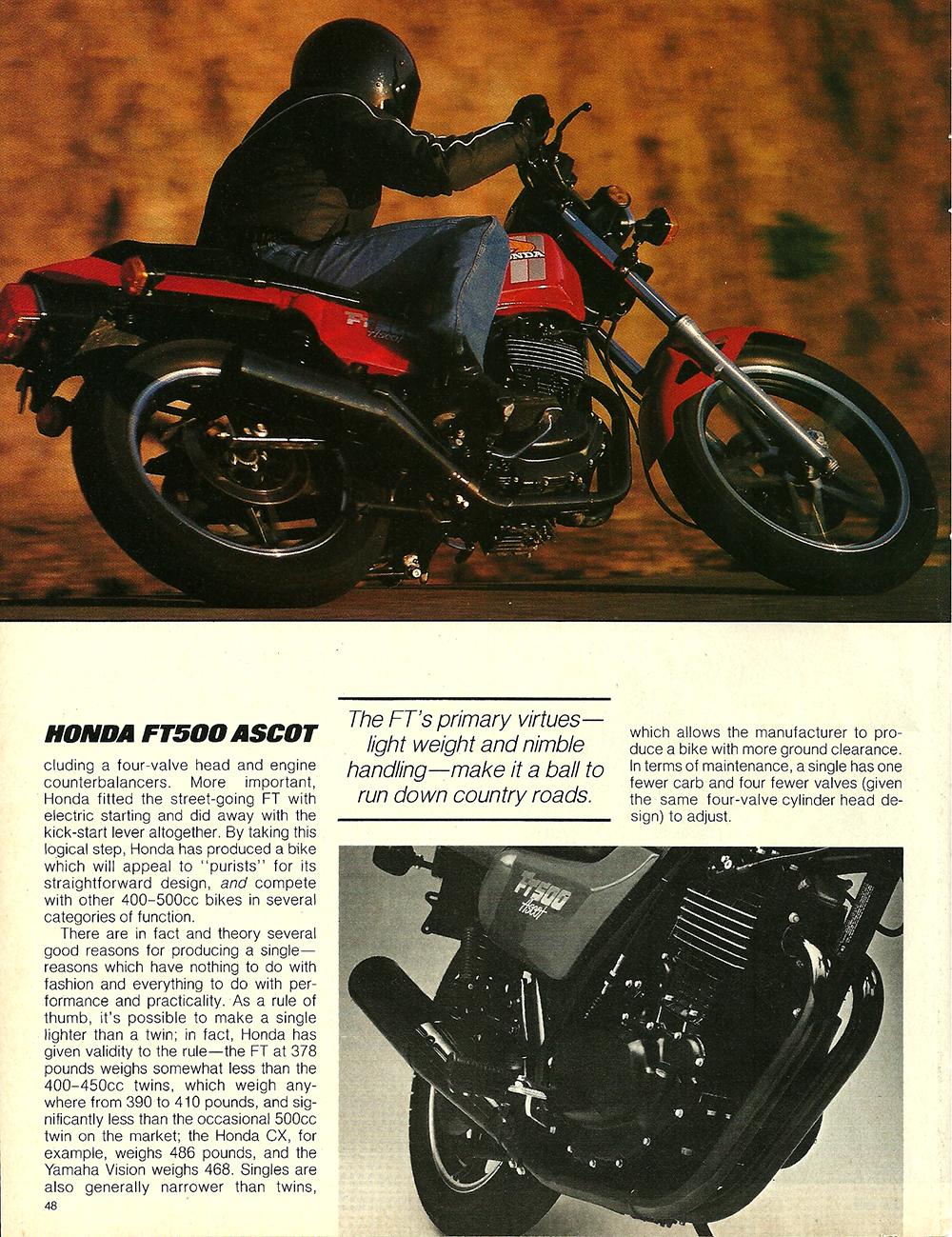 1982 Honda FT500 Ascot road test 2 03.jpg