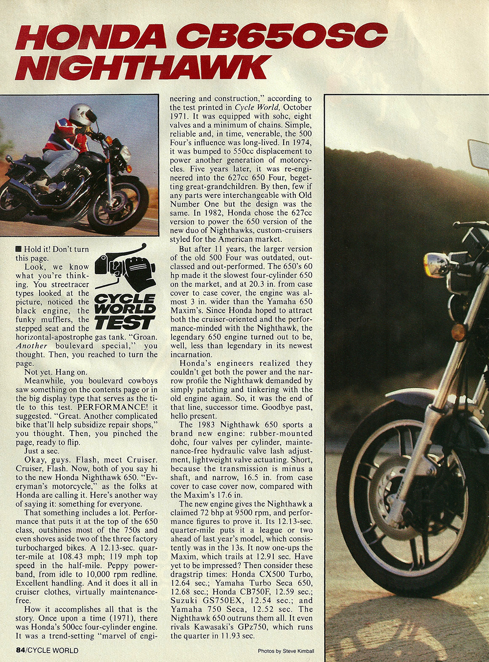 1983 Honda CB650SC Nighthawk road test 01.jpg