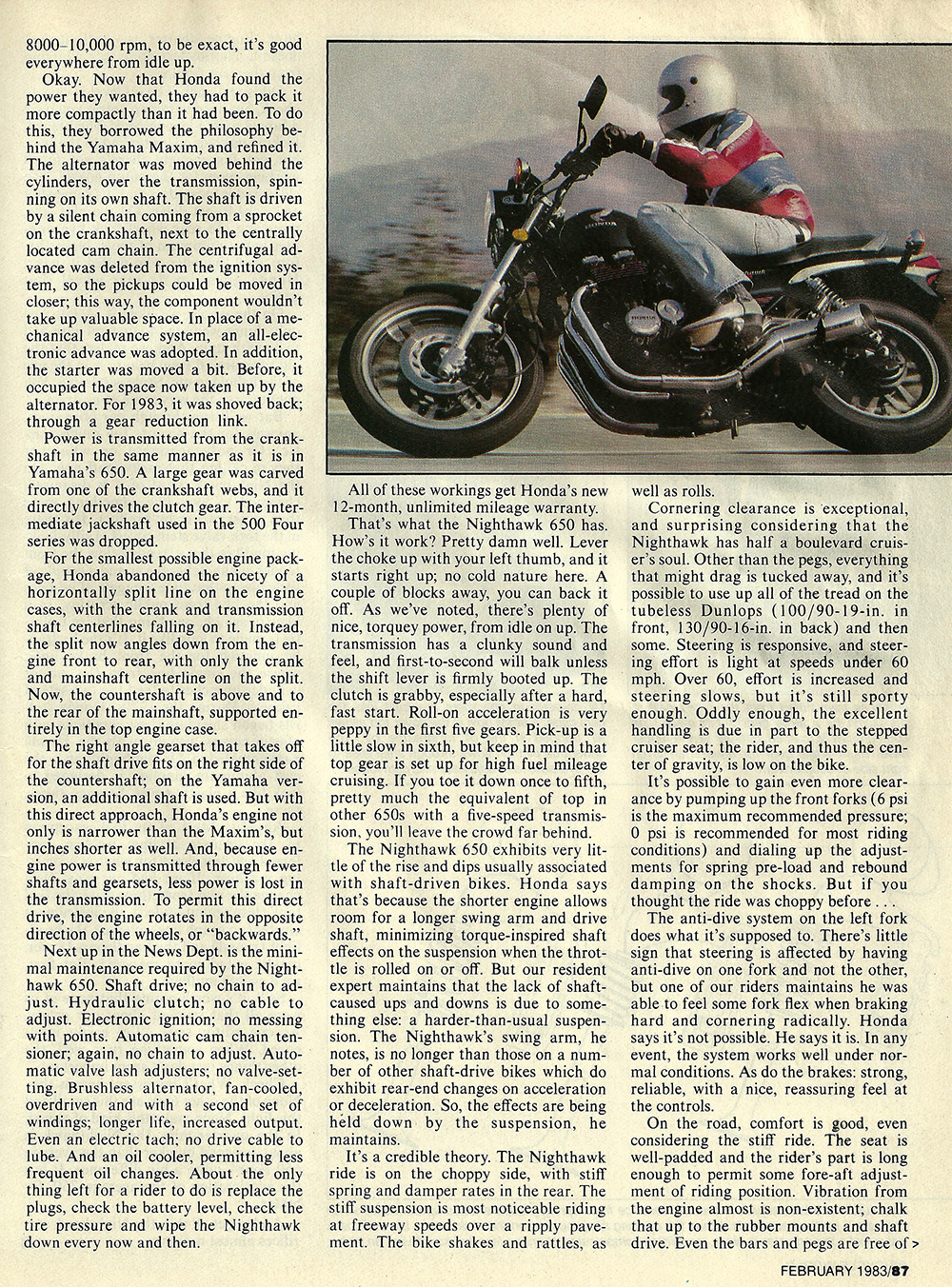 1983 Honda CB650SC Nighthawk road test 04.jpg