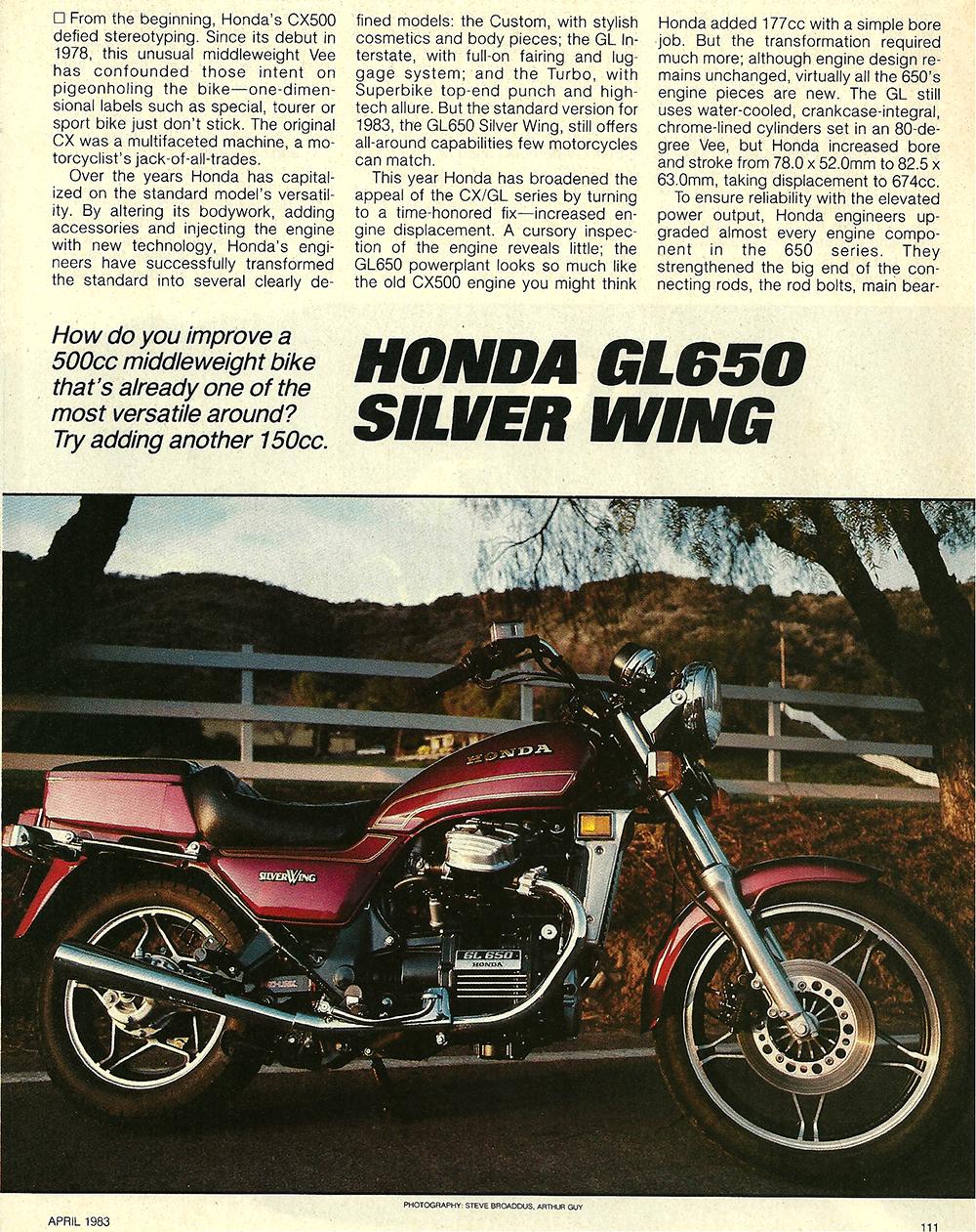 1983 Honda GL650 Silver Wing road test 1.jpg