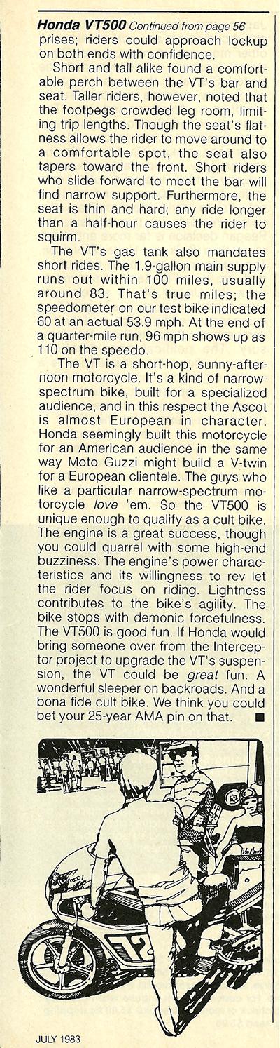 1983 Honda VT500 Ascot road test 8.jpg
