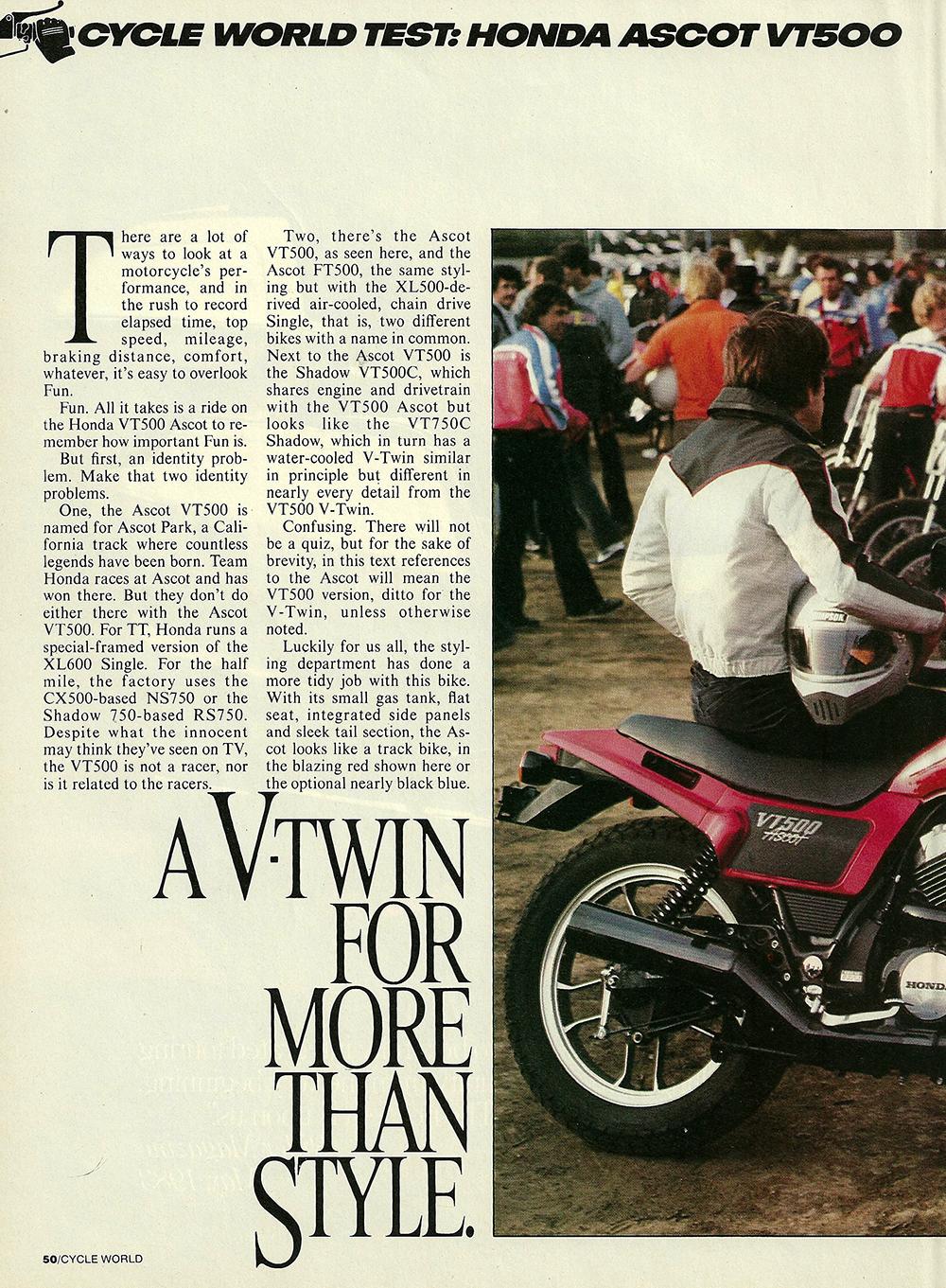1983 Honda VT500 Ascot road test 2 01.JPG