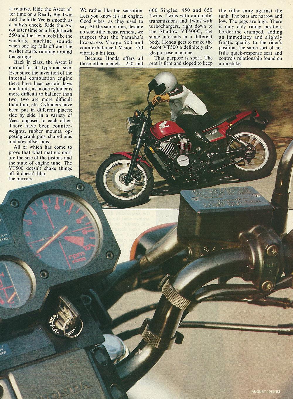 1983 Honda VT500 Ascot road test 2 04.JPG