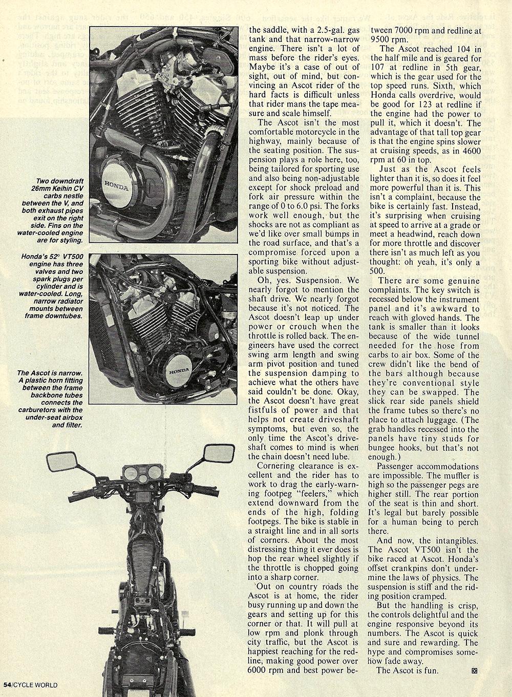 1983 Honda VT500 Ascot road test 2 05.JPG