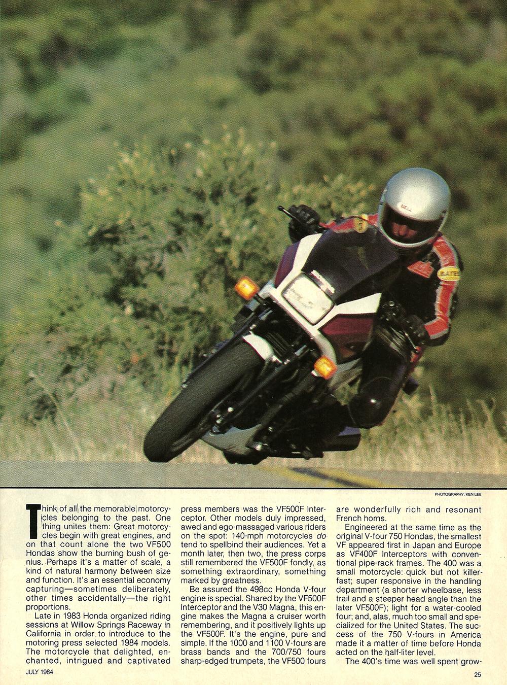 1984 Honda V30 Magna and VF500F Interceptor road test 02.jpg