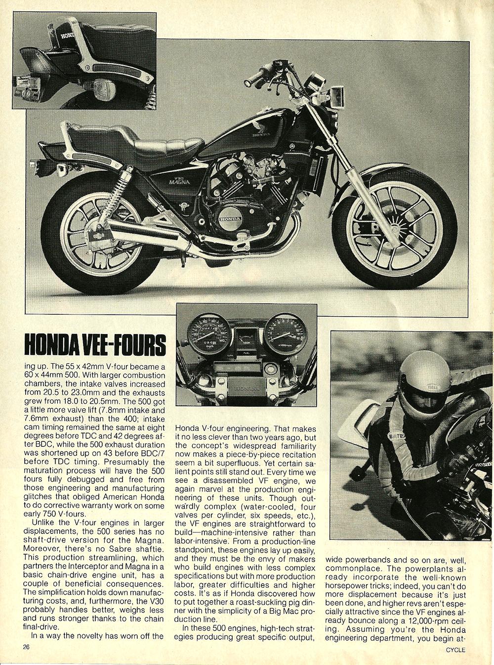 1984 Honda V30 Magna and VF500F Interceptor road test 03.jpg