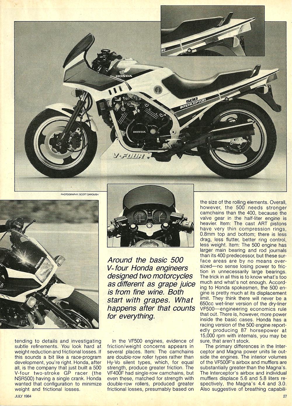 1984 Honda V30 Magna and VF500F Interceptor road test 04.jpg