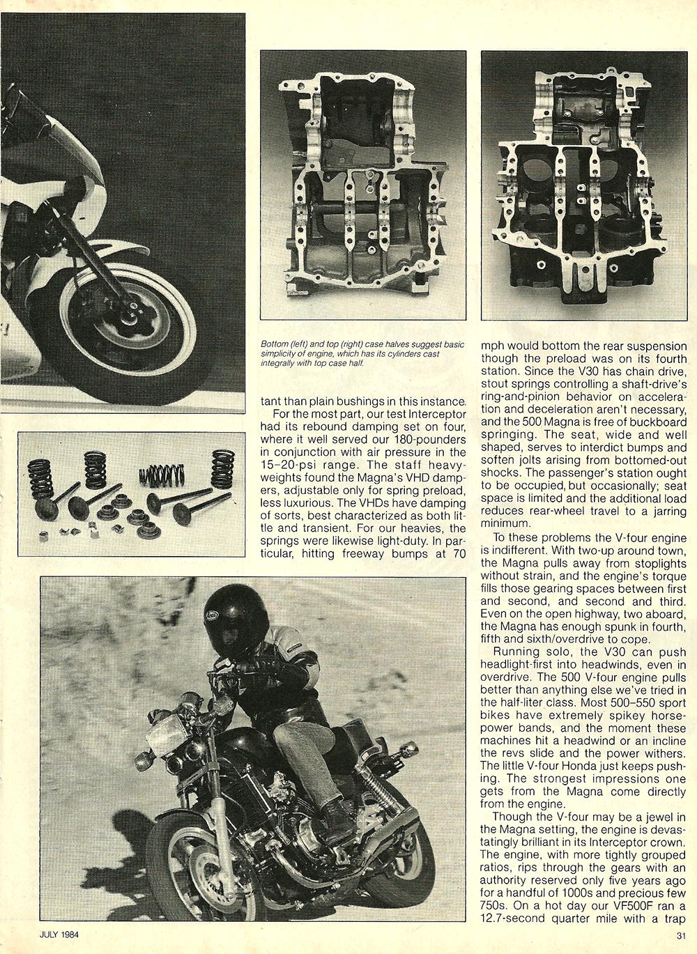 1984 Honda V30 Magna and VF500F Interceptor road test 08.jpg